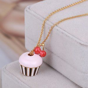 Kate Spade Cherry Pink Cake Necklace